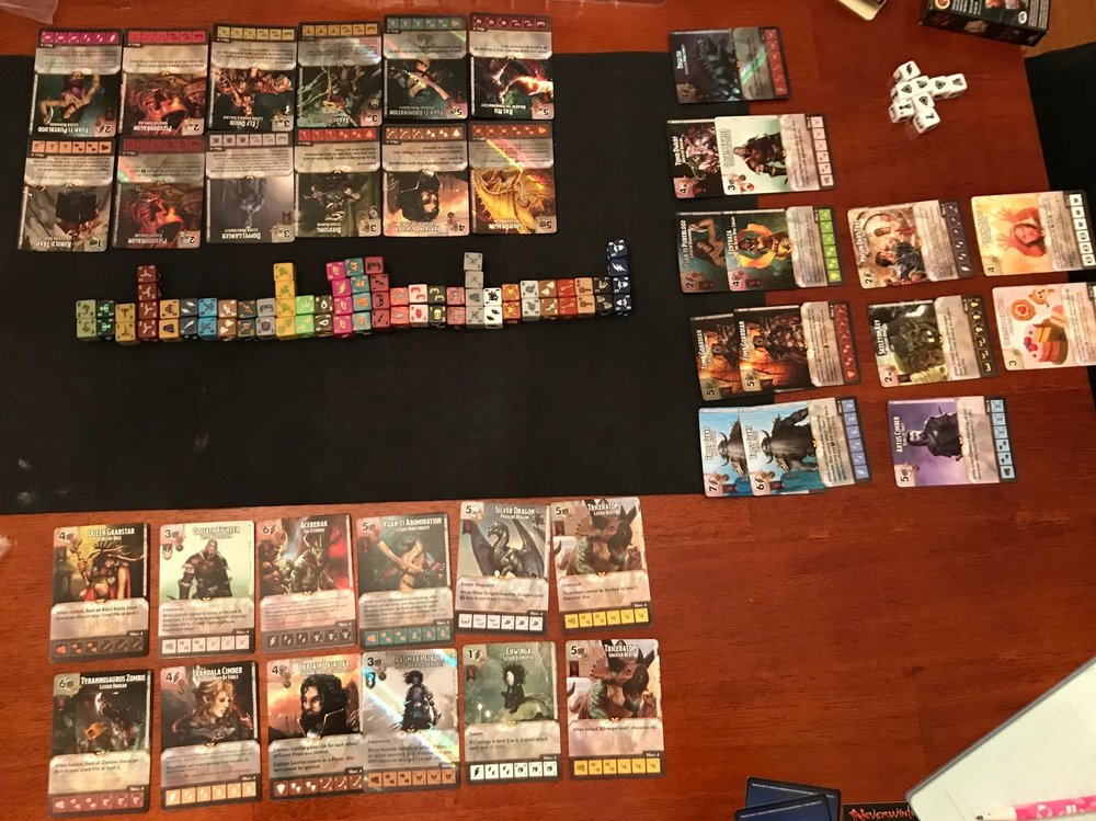 The results after our 3 person draft, Mark went HAM on those Frost Giants.