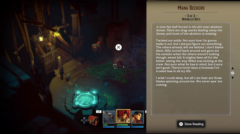 Lore deepens by finding tidbits of information among scrolls and books throughout your adventure.