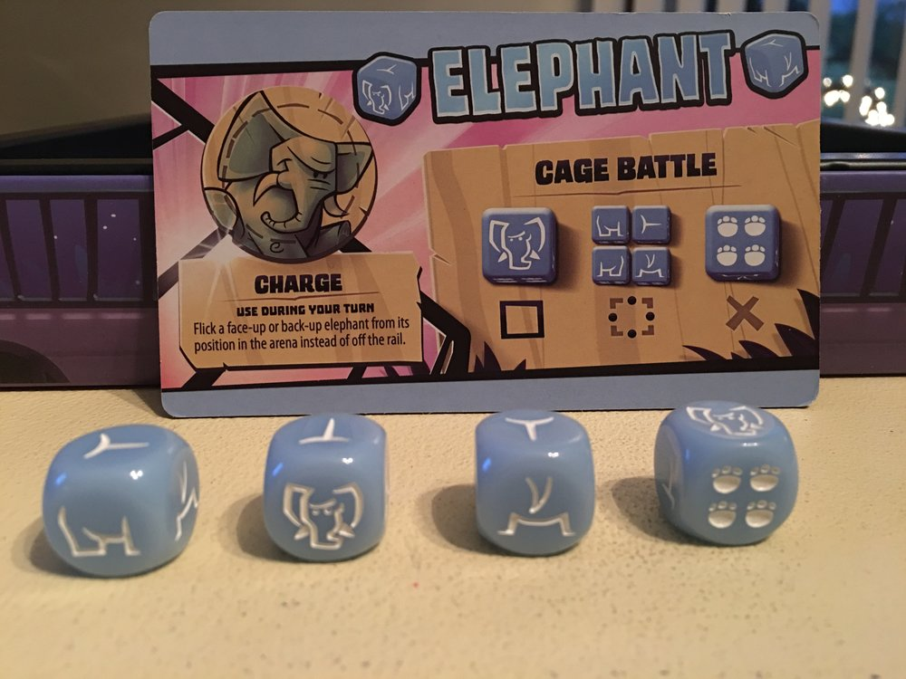 A closer look at the elephant dice. Such great detail!