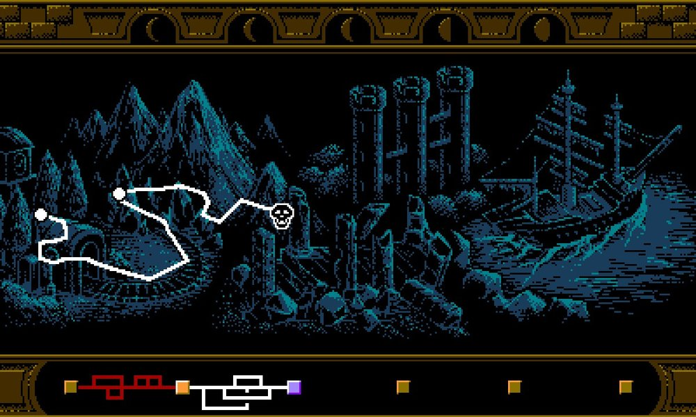 Maps are reminiscent of the NES days, but provide multiple paths for the player to explore.
