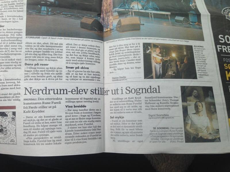 Sogn Avis skreiv om utstillinga i Sogndal.