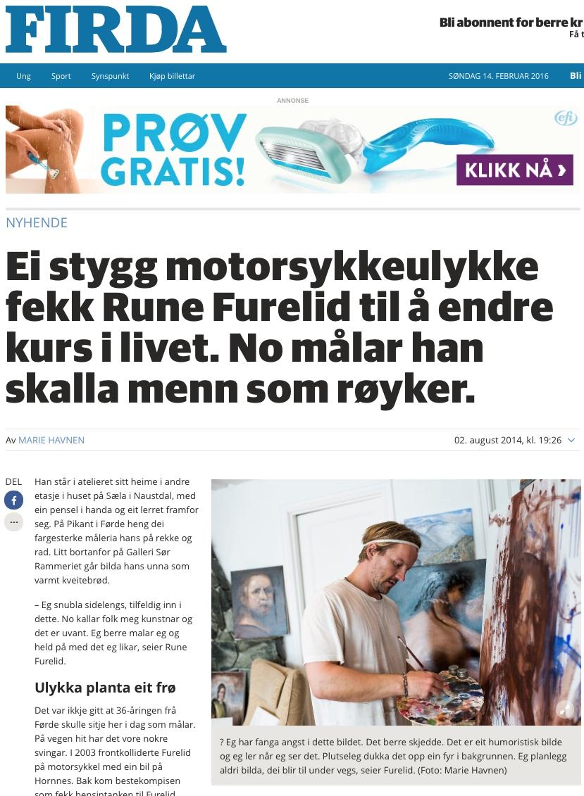 FIRDA kom på  besøk i atelieet i Naustdal 2014. Klikk på bildet for å lese heile saka.
