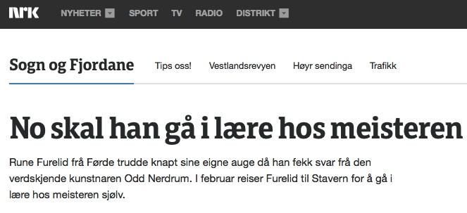 NRK saka kan du lese ved å kopiere denne lenka inn i nettlesaren din: http://www.nrk.no/sognogfjordane/no-skal-han-ga-i-laere-hos-meisteren-1.12121314