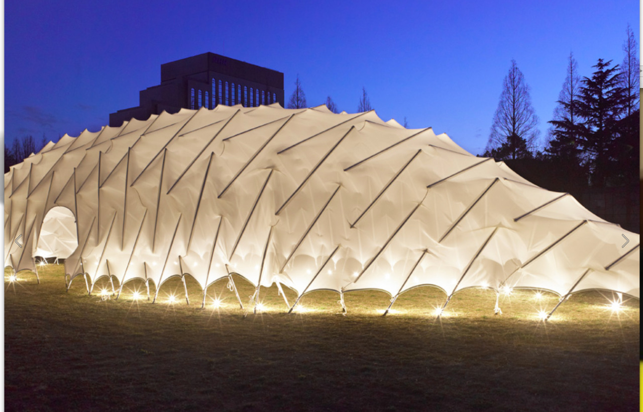 Moom Tensile Structure   Coelacanth and Associates    http://c-and-a.co.jp