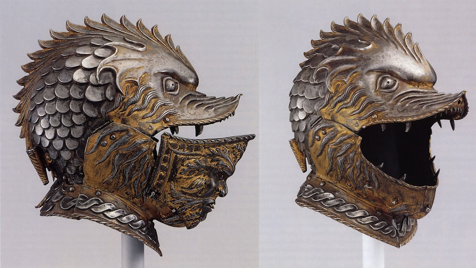 Toothface helmet by unknown Italian artist from the 17th century   via TaleWorlds