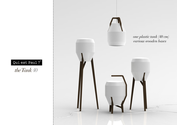 Outdoor Lamp by Clement Sarrodie One rotational molded shade, various wood bases. http://www.behance.net/clmntsrrd