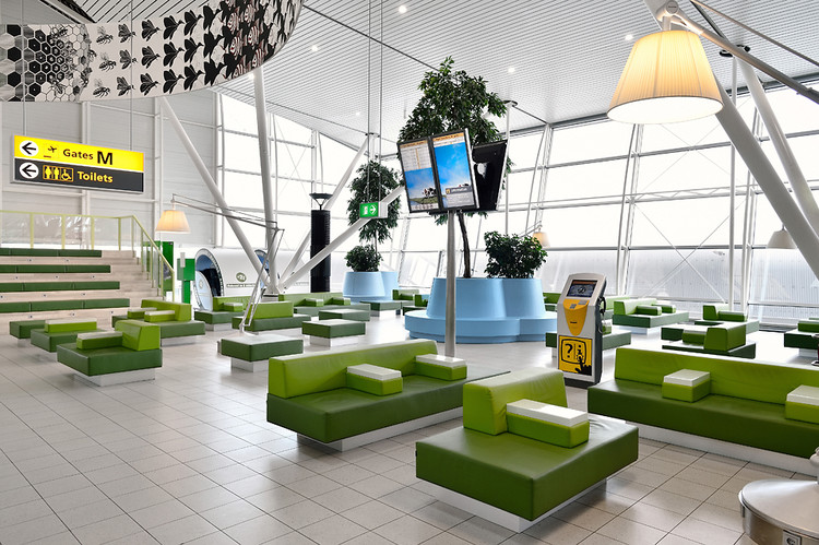 A new lounge at Amsterdam's Schipol Airport by Dutch design studio   Tjep .     http://www.tjep.com/