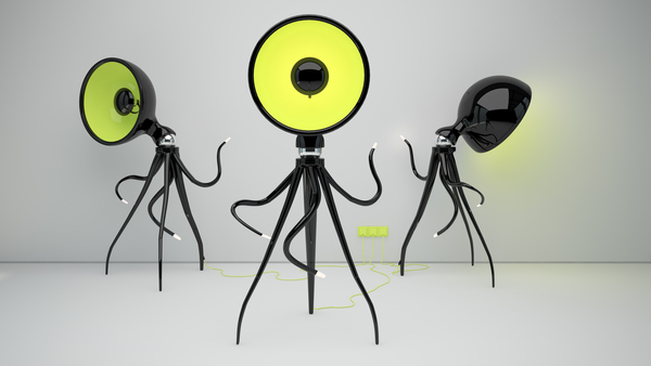 Octopussy Floor Lamp by Vladimir Tomilov http://www.behance.net/vontage
