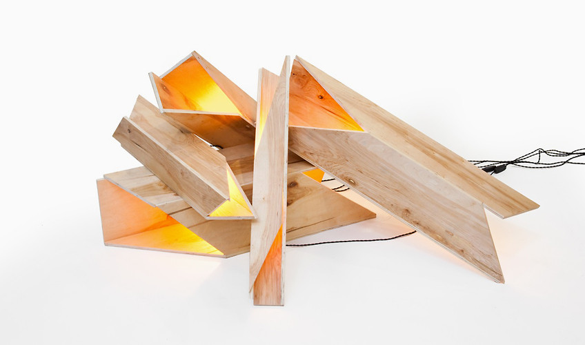 "Sculptural ""logs"" stack to make sculptural light by Rafael de Cárdenas, ARCHITECTURE AT LARGE.         http://architectureatlarge.com/"