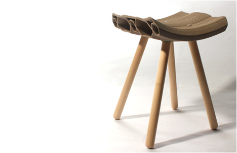 Max Cheprack, graduate of H.I.T Industrial Design department, developed an extruded clay stool with Muslim inspired themes.  Watch this video to see how he does it.   http://vimeo.com/27491088