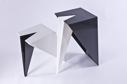 From OK Works, a playful pair of pedestals.  Available in other sizes and colors.      www.okworks.com