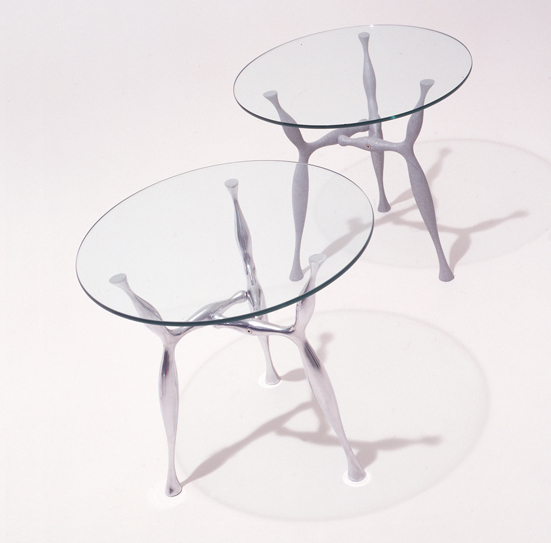 From OK Works, a cast aluminum table, in a range of sizes and finishes. www.okworks.com