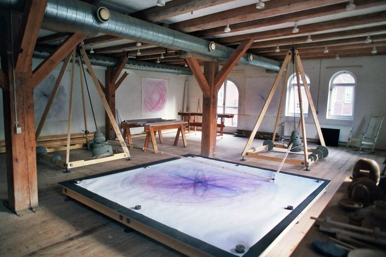 Giant Spirograph drawings by Swedish designer Eske Rex.    http://www.eskerex.com
