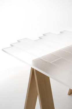 Fantastic 'transparent wood' table cast in clear acrylic. By Japanese design firm Nendo. http://wwwnendo.jp/en/