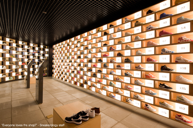 Sneakerology is a great shoe store in Sydney, Australia designed by Facets Studio.    http://facetstudio.com.au/