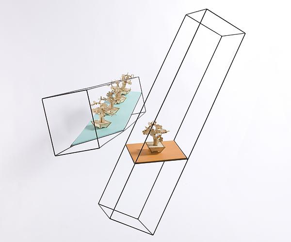 From OK Works, Wireframe Pedestals for a weightless presentation.    www.okworks.com