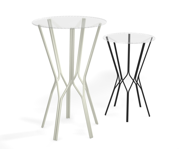 From OK Works, a simple wire base for tables or pedestals with a powdercoated finish.    www.okworks.com