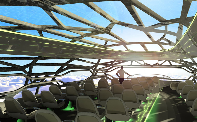 If this is the future of air travel, sign me up.   The Airbus 2050 concept craft replaces first, business and economy classes with lifestyle 'zones', housed in a panoramic transparent body.