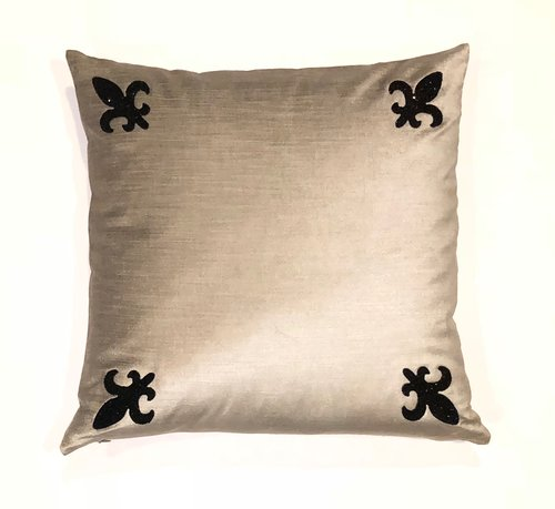Avalon Swarovski Crystal Rock Fleur De Lis Pillow Soft Home Custom