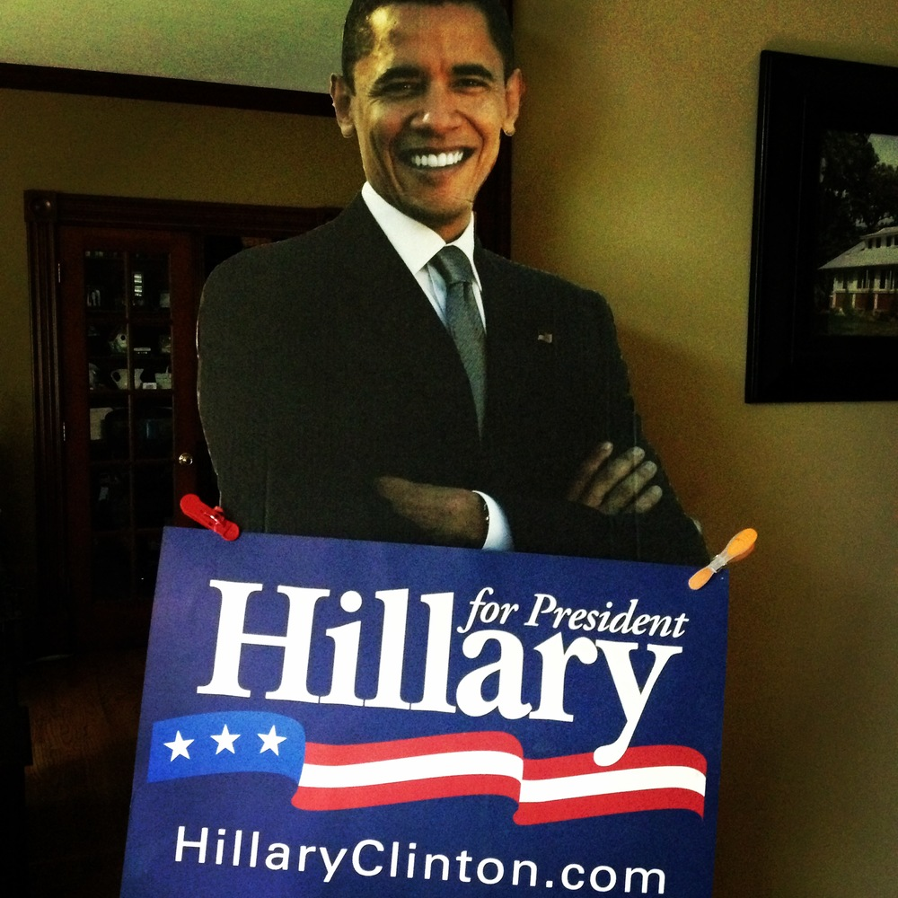 Did you know Obama does home visits as he campaigns for Hilary?