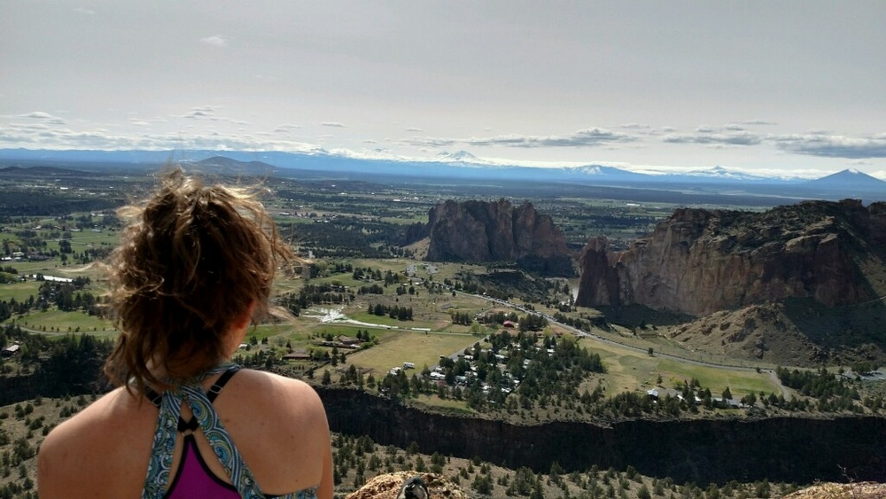 "On top of ""Thin Air"" looking out over Smith Rock on a perfect April afternoon Photo cred: the awesome, Mitchell ""tickle tickle"" Silagy"