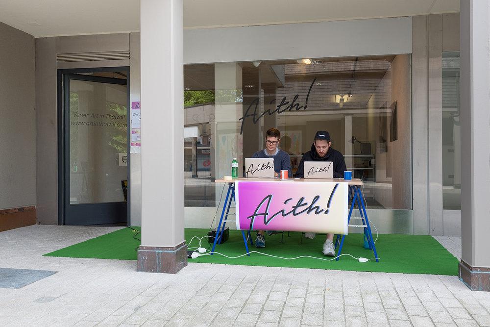 Indergand & Rauber vor dem Vereinslokal von  Art in Thalwil!
