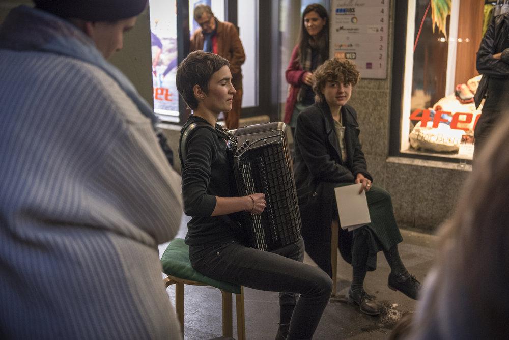 Musikalische Lesung von  Nadja Geisser  und  Lea Gasser , Oktober 2016