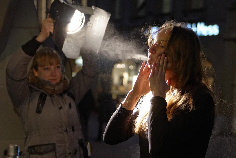 Performance von  Olivia Brantschen , Januar 2014