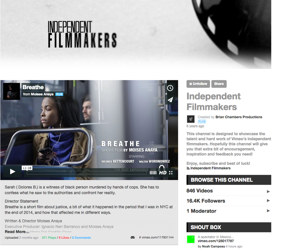 Independent filmmakers vimeo