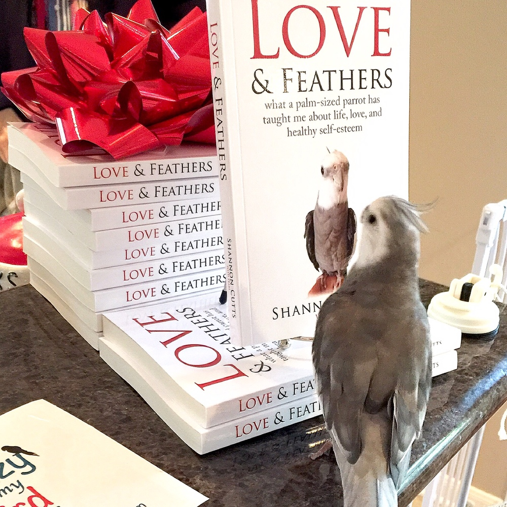 Pearl. Admiring the (crispy, crunchy, oh-so-chewable) cover of his brand new BOOK!