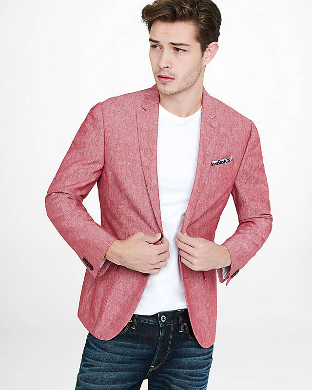 Images of Mens Pink Blazer - Reikian