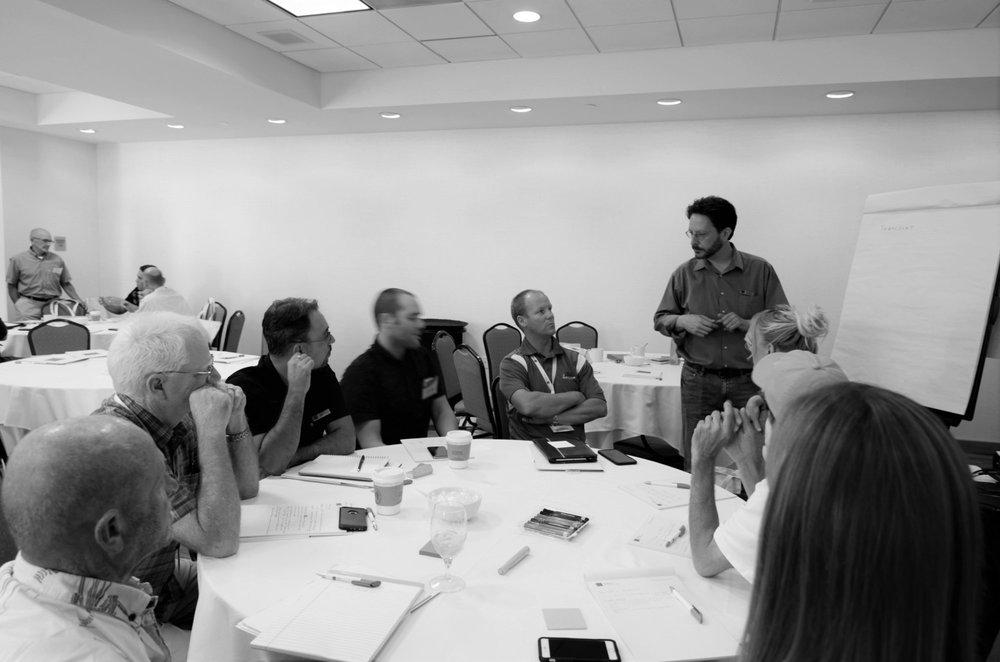 Boaz talks with BayWa r.e. partners at the annual BayWa r.e. Customer Summit
