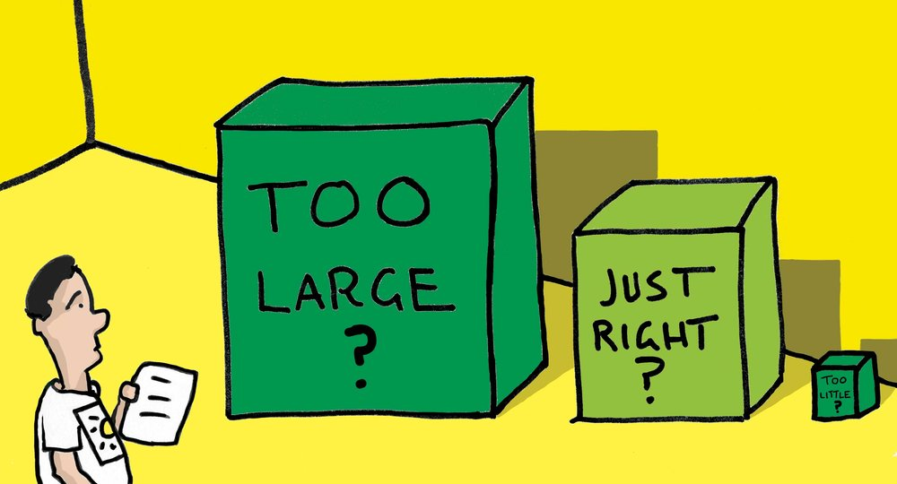Too Little? Too Large? Just Right? - Illustration, Tom Miller