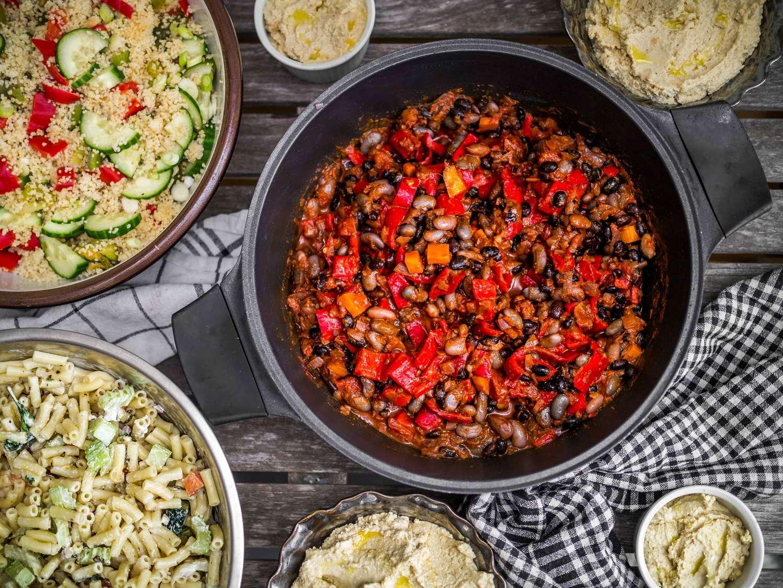 Birthday Vegan Bbq Part 1 Black Bean Chili Discover Delicious