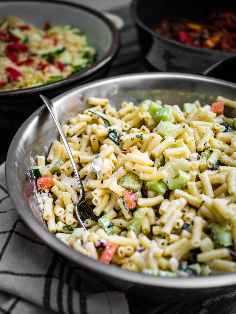 Creamy Pasta Salad | Discover Delicious | Vegan Food Blog