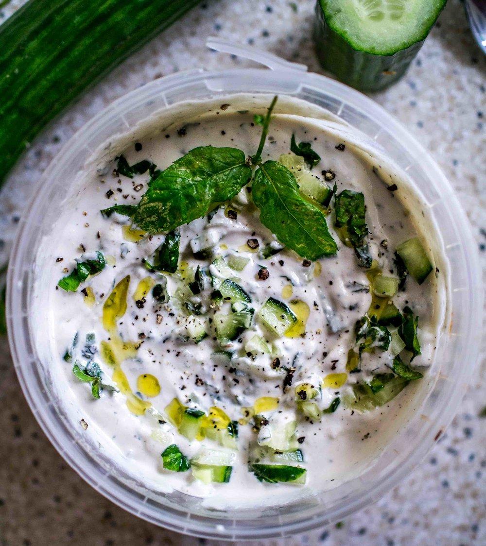 Vegan Tzatziki | www.discoverdelicious.org | Discover Delicious | Vegan Food Blog