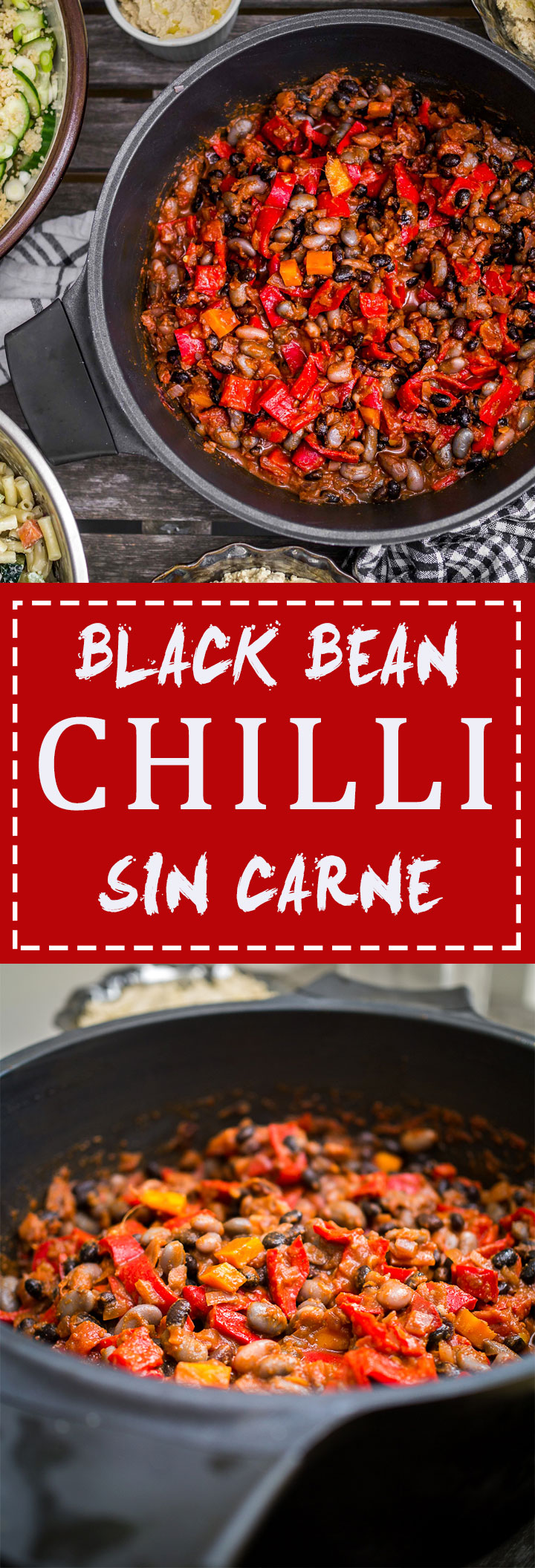 Black Bean Chili Sin Carne | Discover Delicious | www.discoverdelicious.org | Vegan food