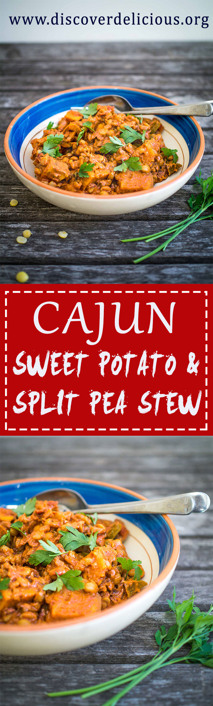 Cajun Sweet Potato Split Pea Stew | www.discoverdelicious.org | Discover Delicious | Vegan Food