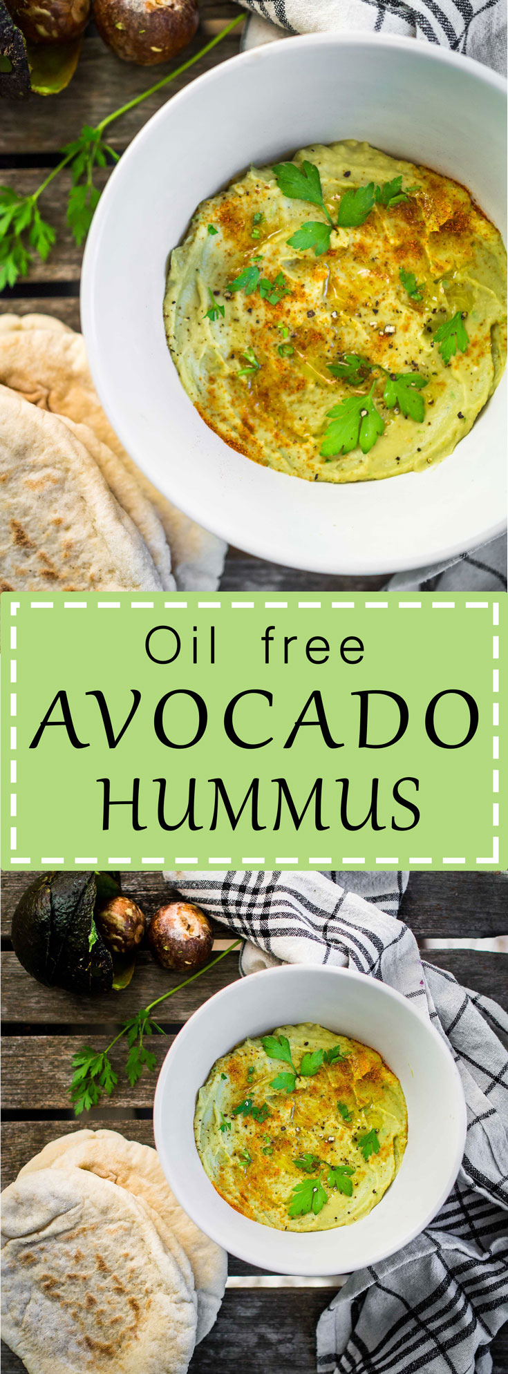 Oil Free Avocado Hummus | Discover Delicious | www.discoverdelicious.org | Vegan Food