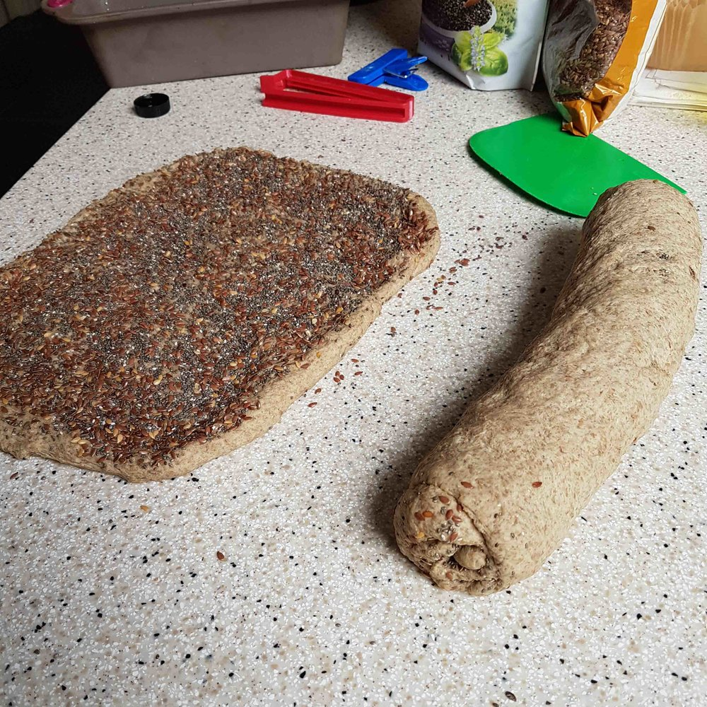 Shaped dough