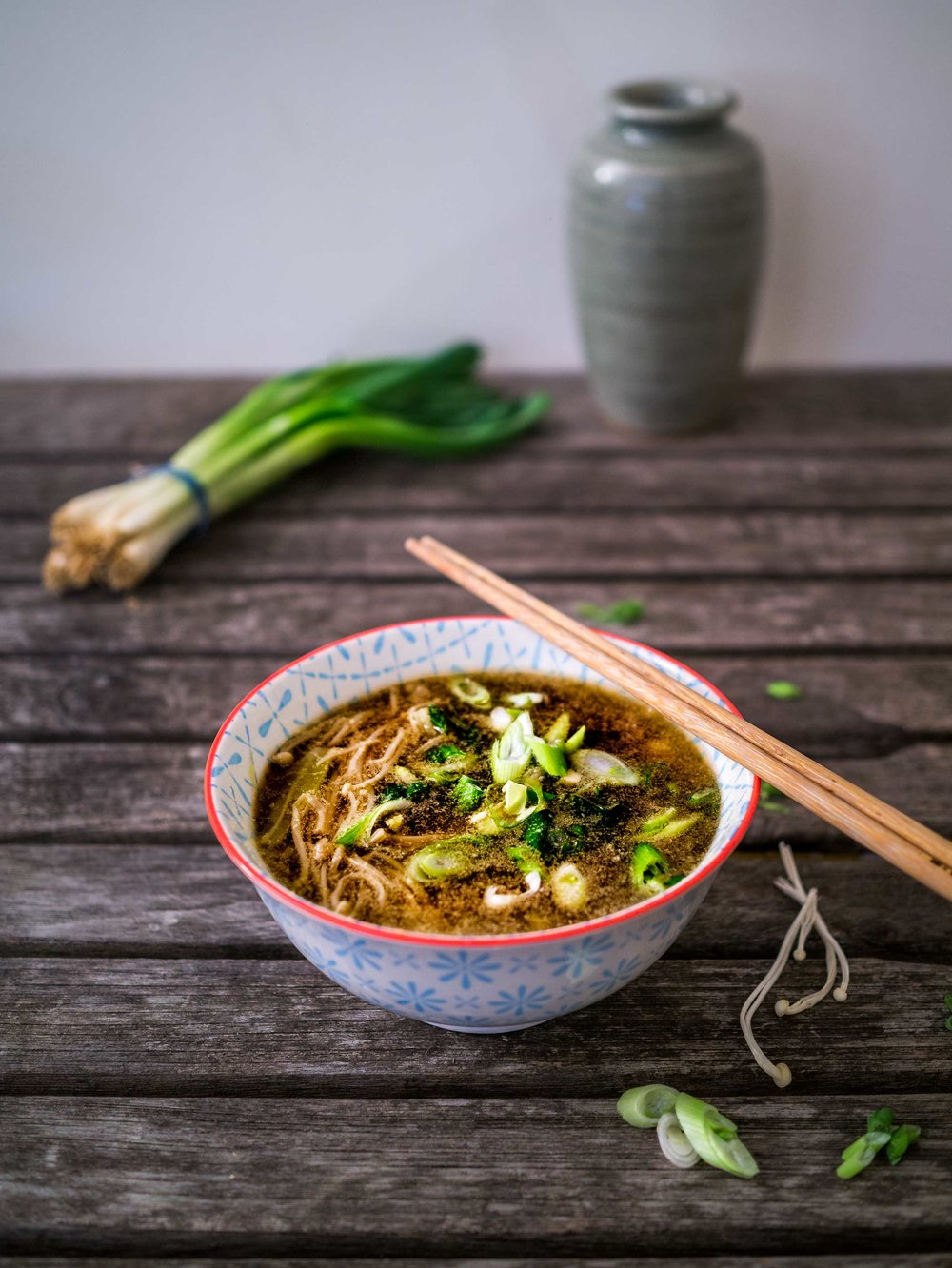 Enoki Mushroom Miso Soup | Discover Delicious | www.discoverdelicious ...