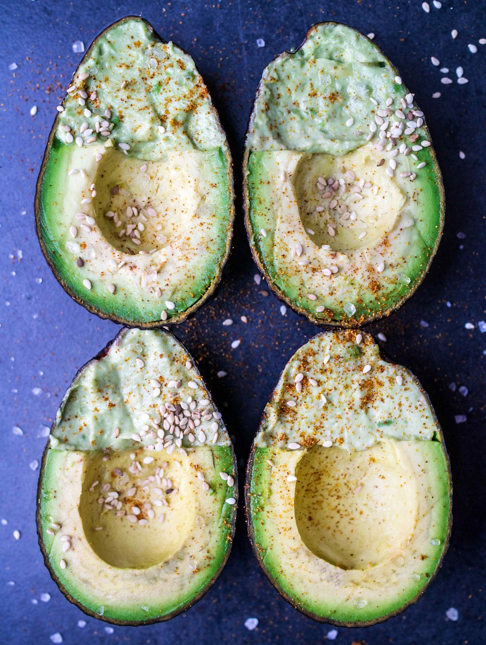 Creamy Filled Avocadoes | Discover Delicious | www.discoverdelicious.org | Vegan Food Blog