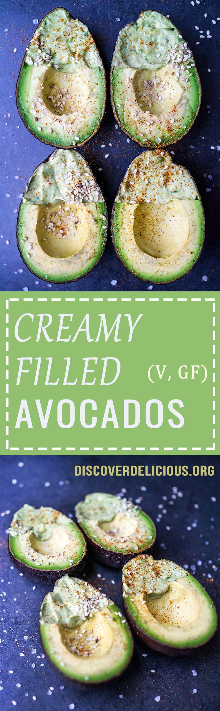 Creamy Filled Avocado | Discover Delicious | www.discoverdelicious.org | Vegan Food Blog