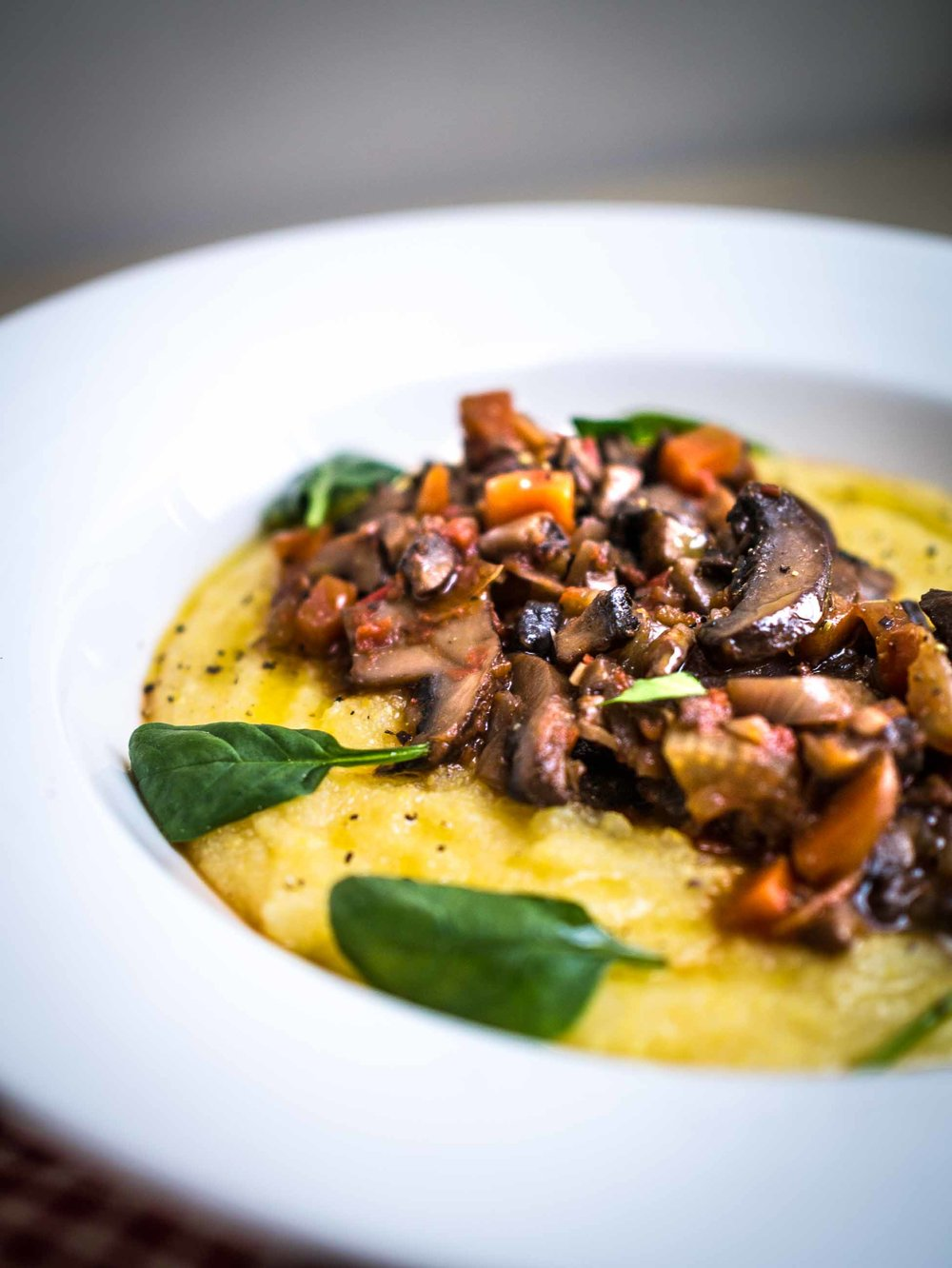 Mushroom Ragu with Creamy Polenta | Discover Delicious | www.discoverdelicious.org | Vegan Food Blog