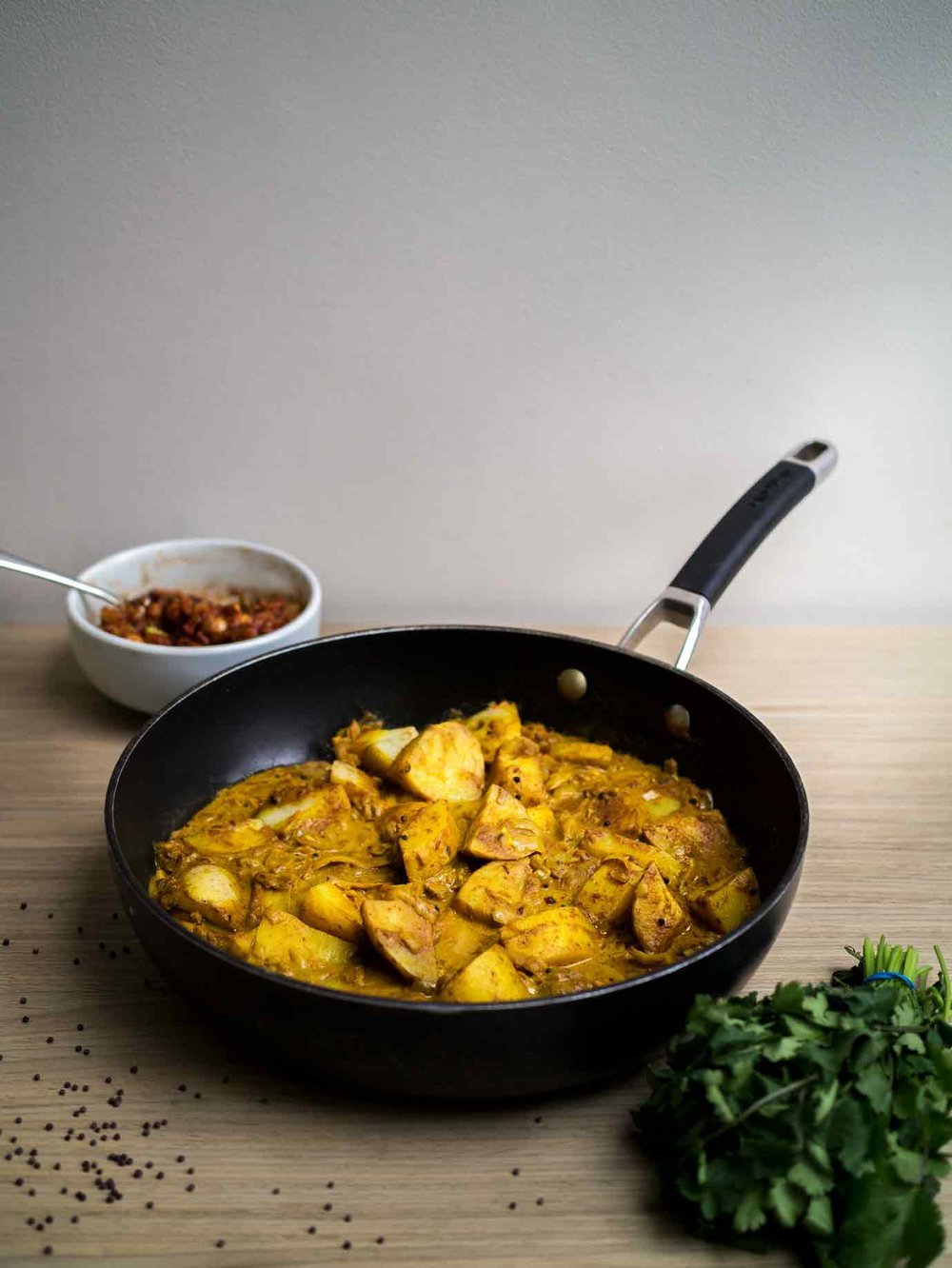 Potato Coconut Curry | Adaptable One Pot Curry | www.discoverdelicious.org | Vegan Food Blog