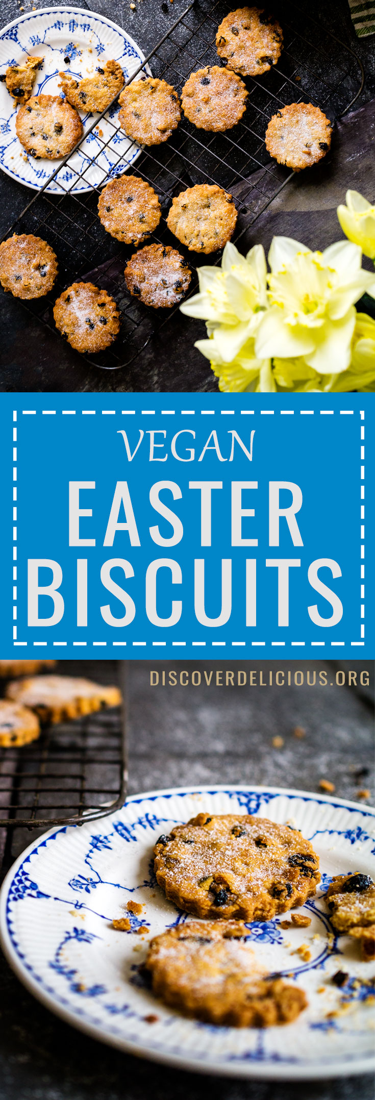 Deliciously crumbly Easter Biscuits! Vegan too! | Discover Delicious | #vegan #baking #recipes #cookie