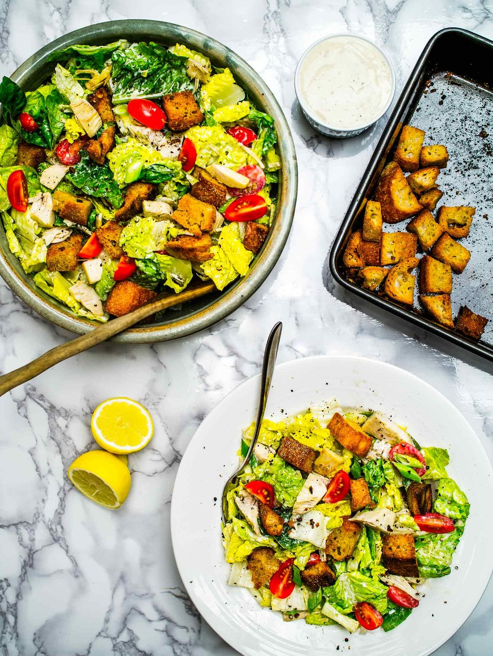 Jackfruit Caesar Salad | Discover Delicious | www.discoverdelicious.org | Vegan Food Blog