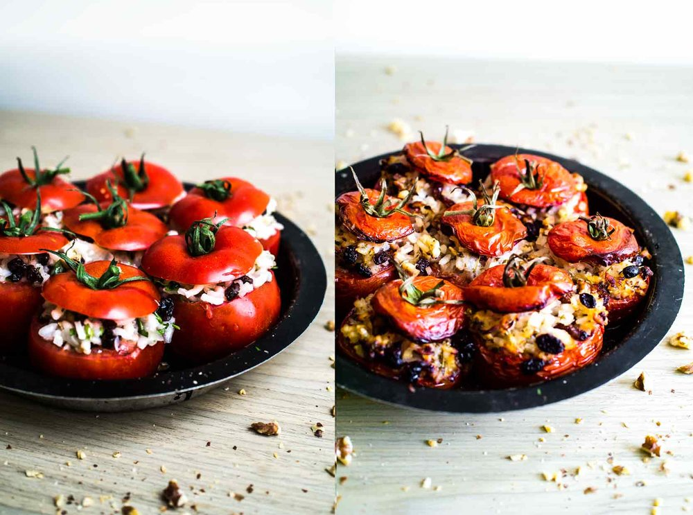 Stuffed Tomatoes from Israeli Stuffed Tomatoes and Courgettes | Vegan Recipe | Discover Delicious | www.discoverdelicious.org