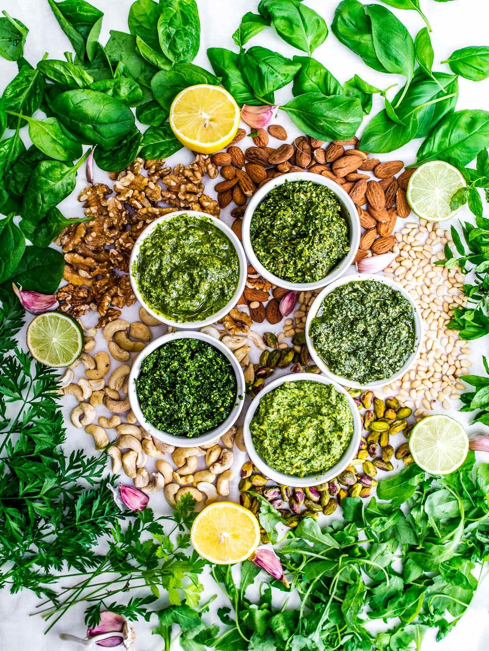 How to make any vegan pesto - adaptable so choose your herb, nut, citrus and oil!  #infographic #graphic #flowchart #recipe #recipes #dips #homemade #healthy #basil #dairyfree #gluten #free #easy #vegetarian #spinach #mint #cashew #green #walnut #almond #vegan #how #make