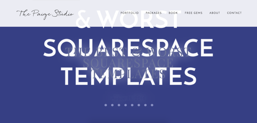 The best worst squarespace templates paige brunton squarespace the best for small businesses or any site with many pages maxwellsz